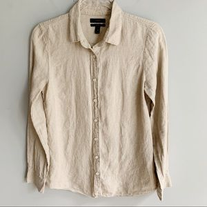 J Crew Perfect Shirt In Linen